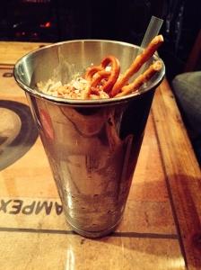 Binn Smokehouse pretzel milkshake