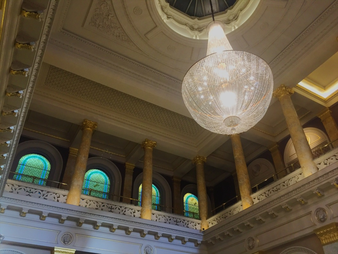 The awesome lobby at London's Grosvenor Hotel