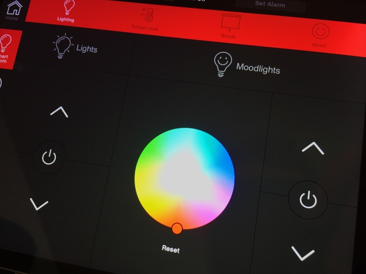 CitizenM ipad room review lighting controls
