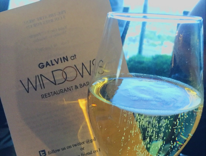 Galvin at Windows rootop bar champgne