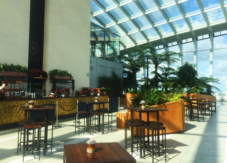 The Sky Garden bar with a view in London