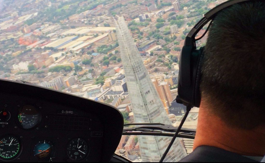 London Helicopter tour experience turning over the city
