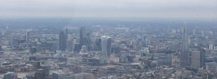 London skyline from the helicopter