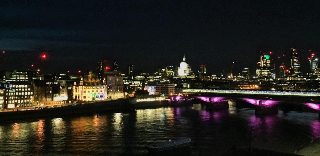 Oxo Tower restaurant night view London