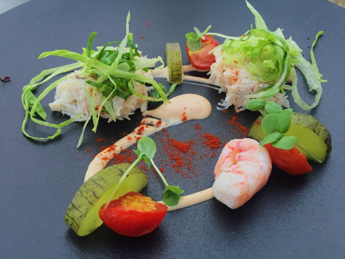 Searcys' Cornish Crab Salad, The Gherkin in London