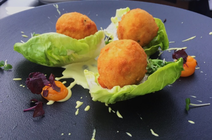 Searcys' Smoked Salmon Fishcakes, The Gherkin London