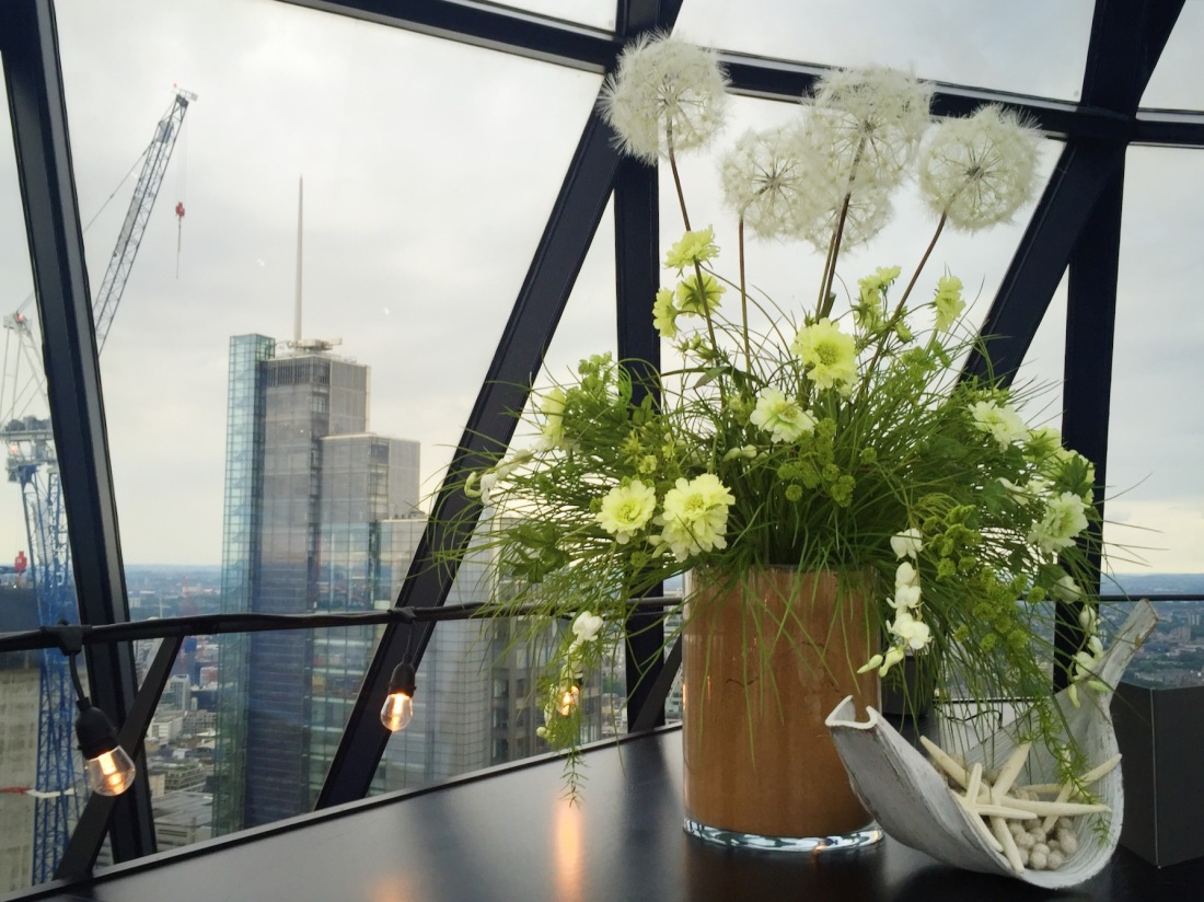 Searcys The Gherkin flowers