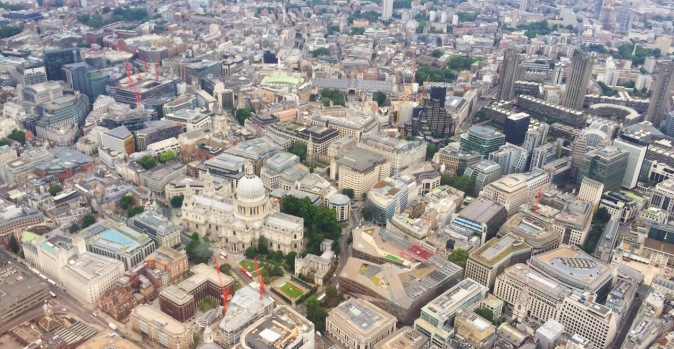 The City and St Paul's from the London Helicopter