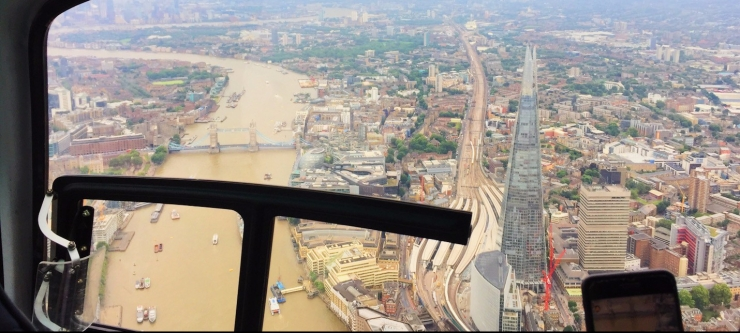 The Shard from the London Helicopter
