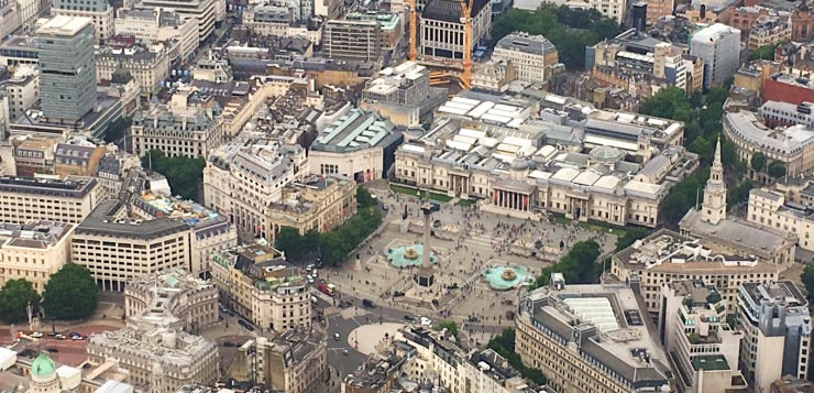 Trafalgar Square The London Helicopter flight experience