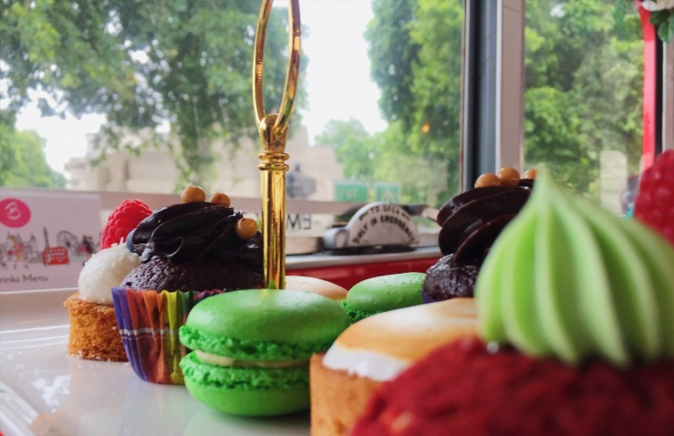 Afternoon Tea Cakes on a London Routemaster Bus