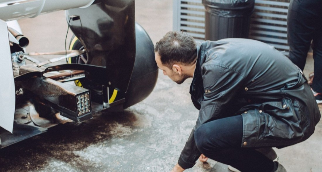 F1 car rear view