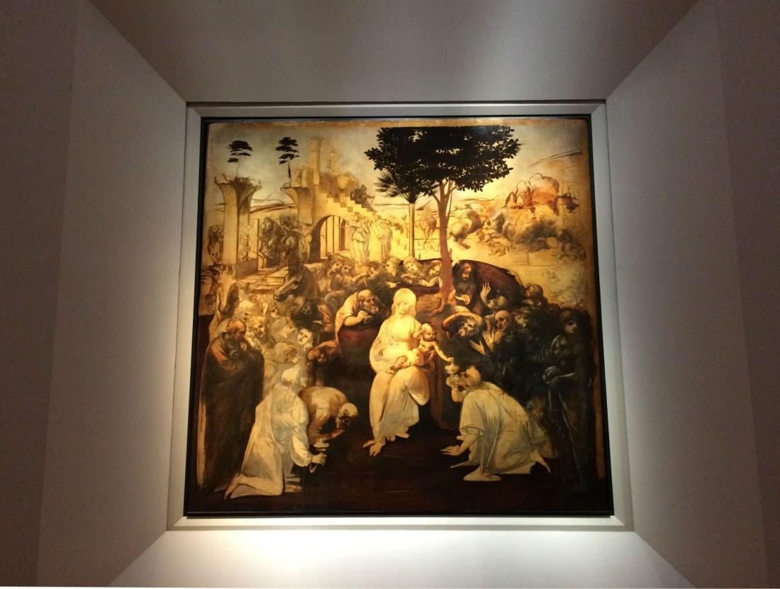 Italy-florence-Uffizi-Leonardo-da-vinci